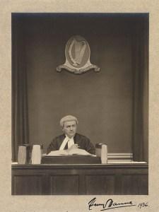 Henry Hanna, image obtained from Harvard Law Library, copyright: photographer [Arthur H] Davis, [Dublin], 1936