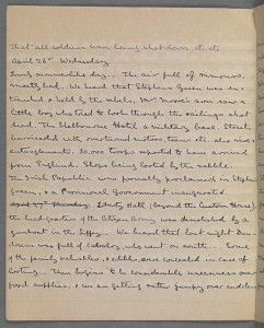 Diary of Winifred Wynne 25 April - 4 May 1916. TCD MS 10247/12 f2v