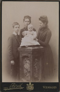 Winifred Wynne with her sister Emily and brothers Charles and Jack c1896. TCD MS 10247/17/82