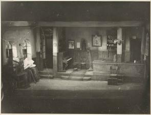 Abbey theatre set at the Queen's Theatre 1958 TCD MS 10066/299/1003