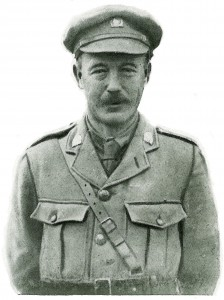 Frank Browning in the uniform of the Irish Rugby Football Volunteer Corps