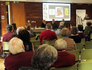 Heather Pulliam, Bernard Meehan and answer questions after their session at the Wandering Word Conference on 6 May 2016.