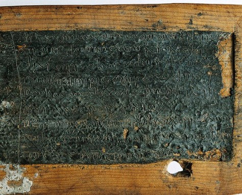 Fig. 1 Wax surface on Springmount Bog Tablet, National Museum of Ireland (No. S.A. 1914: 2). Source.