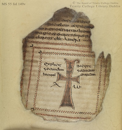 Figure 6 Codex Usserianus Primus, 7th c., TCD MS 55, f. 149v © The Board of Trinity College Dublin, the University of Dublin. 2015.