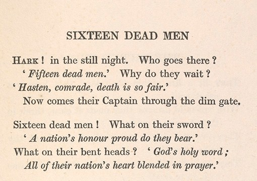 Excerpt from 'Sixteen dead men'