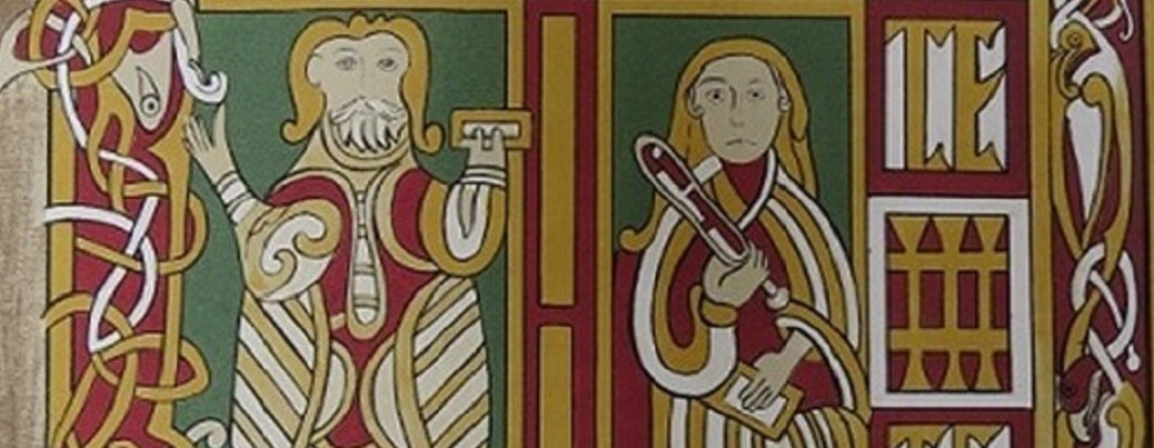 Garland of Howth f. 1r Ms and Stokes banner