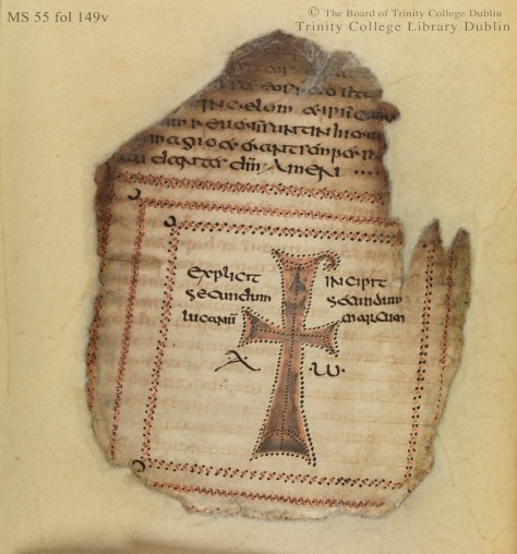 Figure 1 Codex Usserianus Primus, early 7th century, TCD MS 55, f. 149v © The Board of Trinity College Dublin, the University of Dublin. 2015.