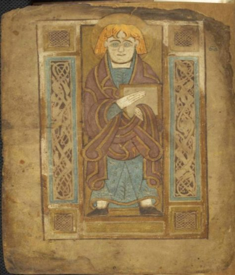 The Book of Mulling, second half of 8th century, TCD MS 60, f. 81v © The Board of Trinity College Dublin, the University of Dublin. 2015.