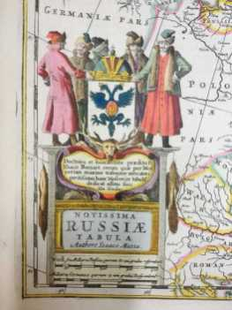 From a map of Russia in Jansson's Atlas Contractus 1666