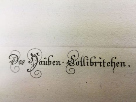 The metal plate-mark can be seen above the fine calligraphy