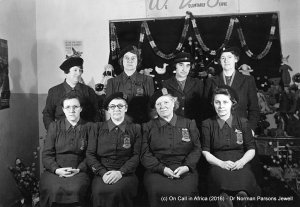 Women's Royal Voluntary service Middlesex Branch. S.E. Auchinleck, seated, second from right. (Private collection).