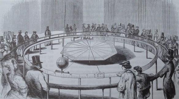 Engraving in L'Illustration of Foucault's pendulum in the Panthéon, Paris