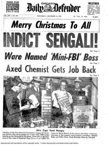 Chicago Defender, Front page, Weds., Dec 24th 1969.