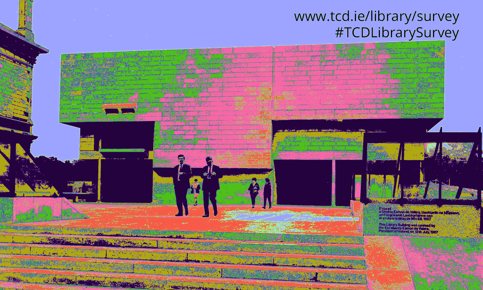 pop art image of Berkeley Library