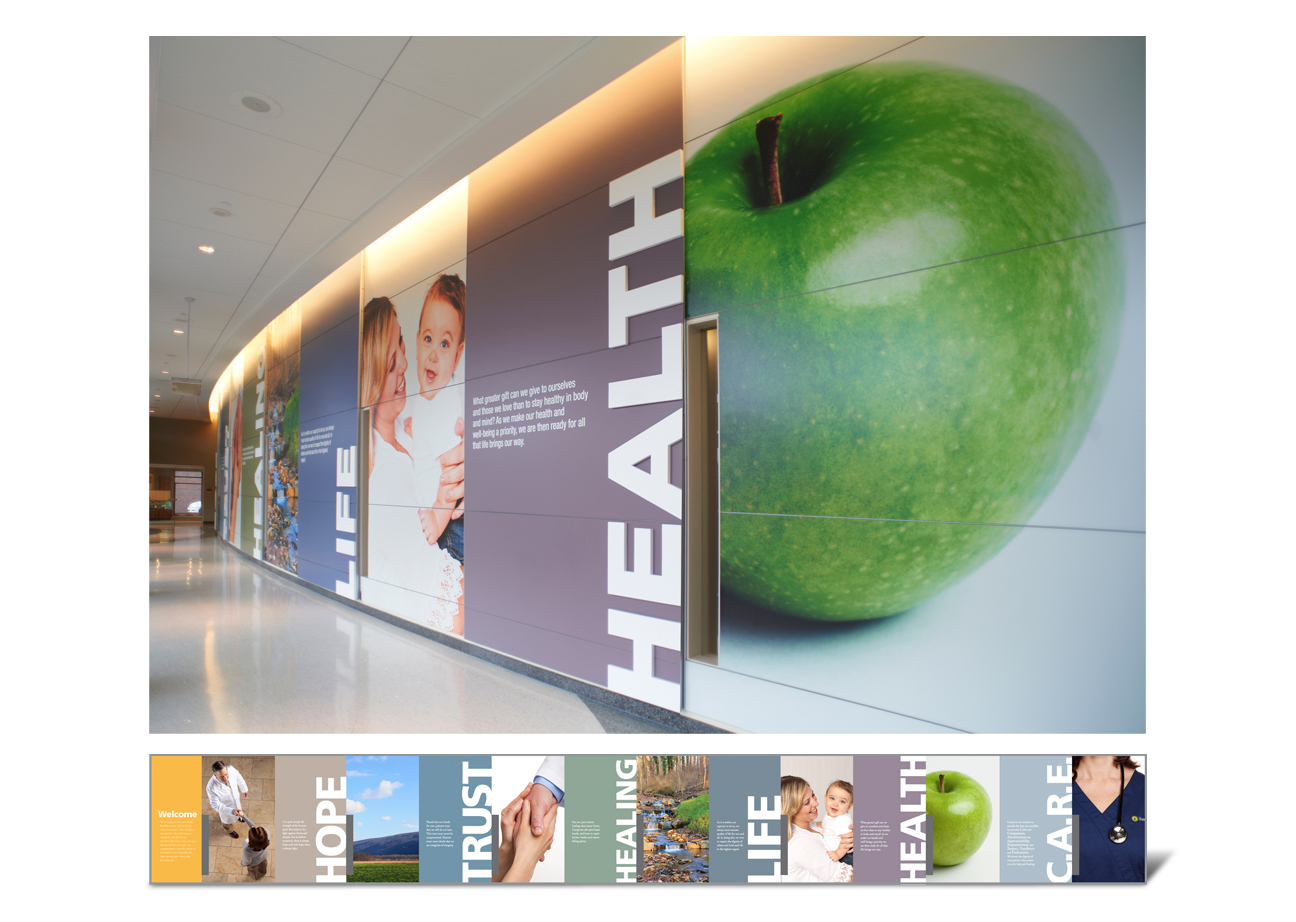 Susquehanna Health Wall Display