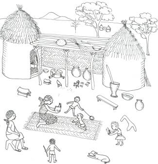 Pages à colorer du Tchad virtuel/Coloring Pages from
