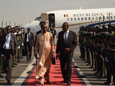 Le Président de l'UA Idriss Déby Itno au chevet de la RDC