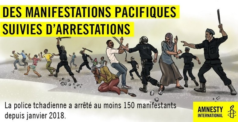 Répression à haut Déby au Tchad: treize jeunes activistes frappés et arrêtés pour avoir tenté de marcher contre la pénurie de gaz butane
