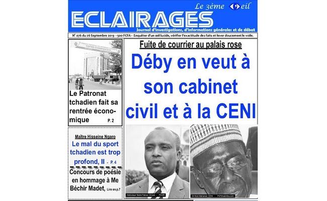 Tchad: après une fuite dans la presse du courrier du Dircab à la CENI, le Palais rose cherche à démasquer la taupe