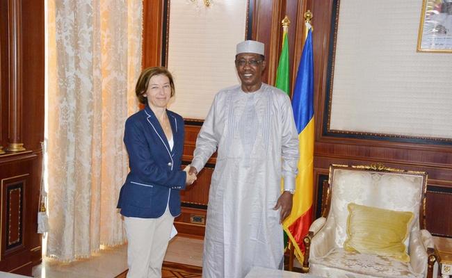 Tournée de la ministre française des armées dans le sahel: Madame Florence Parly sera ce lundi par le Président Idriss Déby