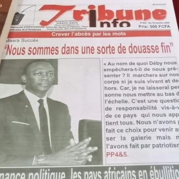 Au Tchad, une «Douasse» en vue entre le Maréchal-Président Idriss Déby et son challenger Succès Masra ?