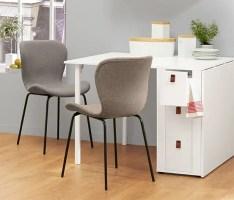 Stuhl mit gepolsterter Sitzschale und Metallbeinen online ...