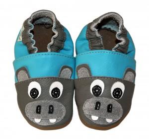 chaussons bébé enfant en cuir souple potame Eko Tuptusie