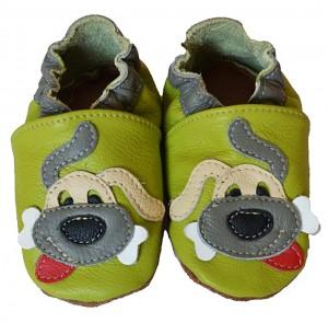 chaussons bébé enfant en cuir souple Doggy Eko Tuptusie