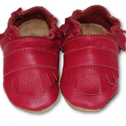 chaussons en cuir souple bébé enfant boho