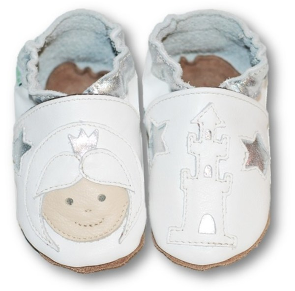 Chaussons en cuir souple bébé enfant princesse