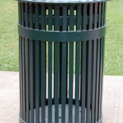 Commercial Kitchen Trash Can Outdoor Modular Tci - Metal Park Equipment (san Antonio Style)