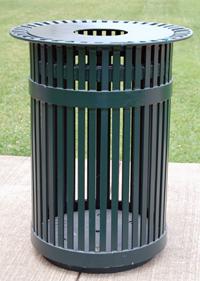 TCI  Metal  Park Equipment  Trash Can San Antonio Style