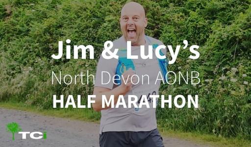 Jim-capron-north-devon-half-marathon-fundraising-hospice-charity-tci-aonb