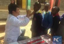 แพทย์จีนตั้งค่ายรักษาโรคให้เด็กด้อยโอกาสในเคนยา