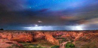 ทางช้างเผือกที่แต่งแต้มท้องฟ้ายามราตรีในสหรัฐฯ