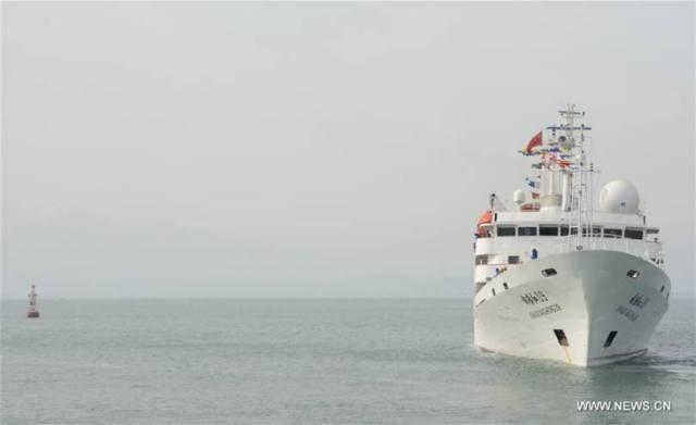 """""""เจียวหลง"""" เริ่มสำรวจทางวิทยาศาสตร์ในมหาสมุทรอินเดียแล้ว"""