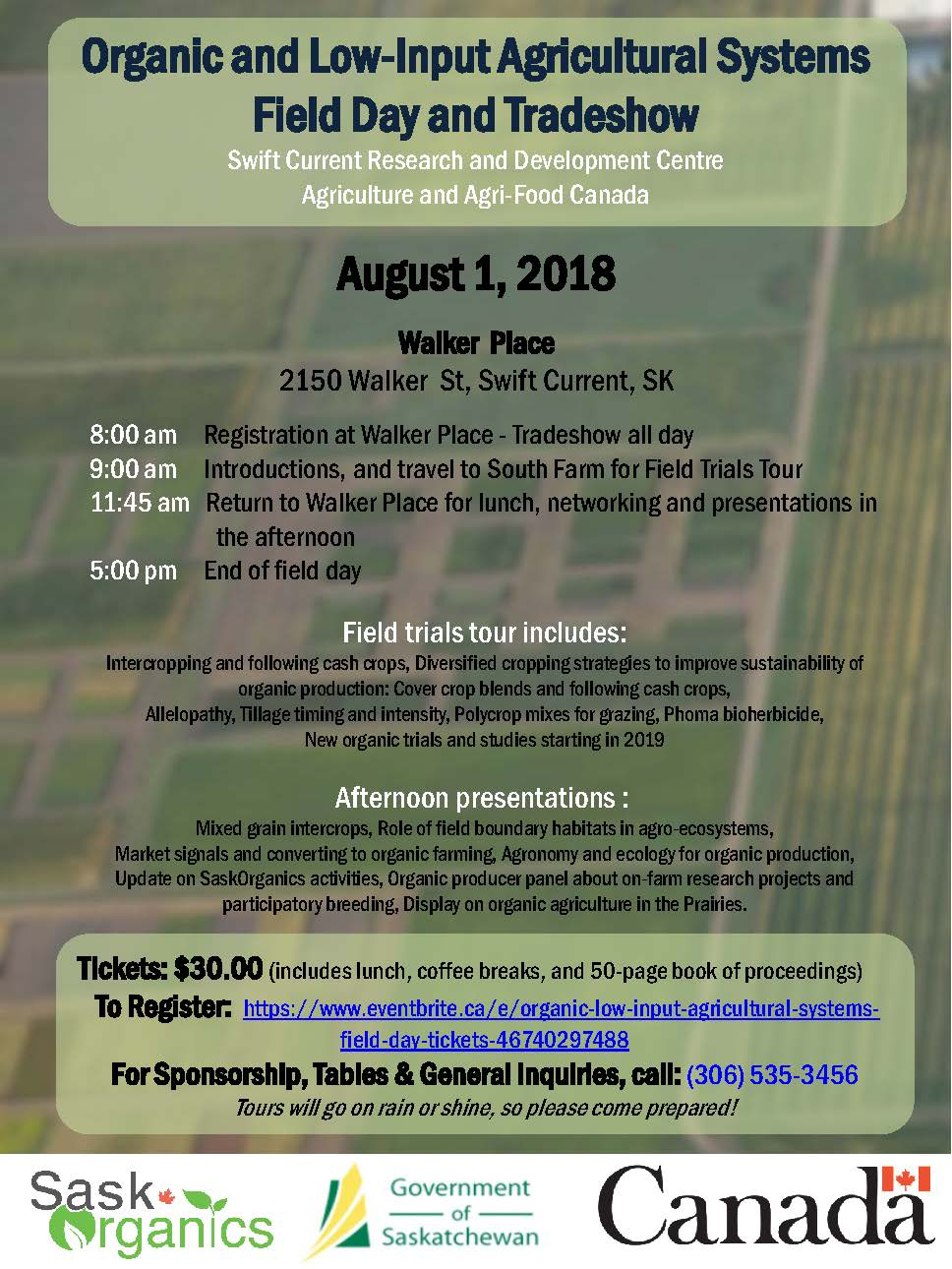 Organic & Low-Input Agricultural Systems Field Day & Trade Show