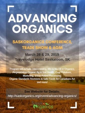 SaskOrganics Annual Conference, AGM, and Trade Show – TCO