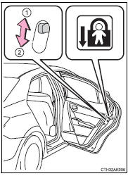 Toyota Corolla Owners Manual: Rear door child-protector