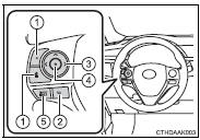 Toyota Corolla Owners Manual: Steering wheel audio