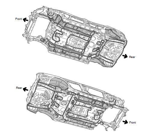 Toyota Corolla Body Repair Manual: Body panel undercoating