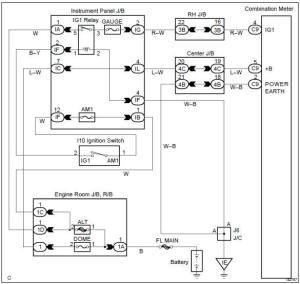 Toyota Corolla Repair Manual: Entire bination meter