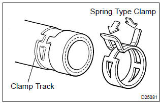 Toyota Corolla Repair Manual: Handling of hose clamps