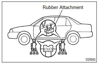Toyota Corolla Repair Manual: Vehicle lift and support