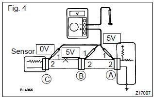 Toyota Corolla Repair Manual: Check open circuit