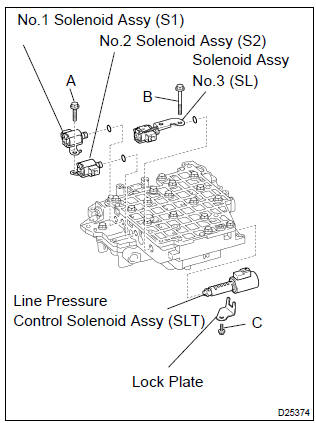 Toyota Corolla Repair Manual: Transmission valve body assy