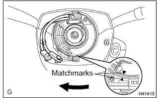 Toyota Corolla Repair Manual: Spiral cable sub–assy