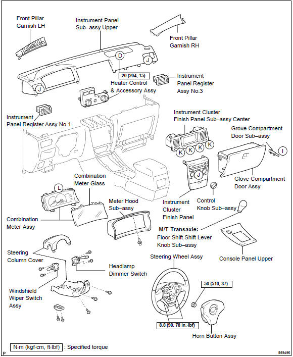Toyota Corolla Repair Manual: Instrument panel/meter