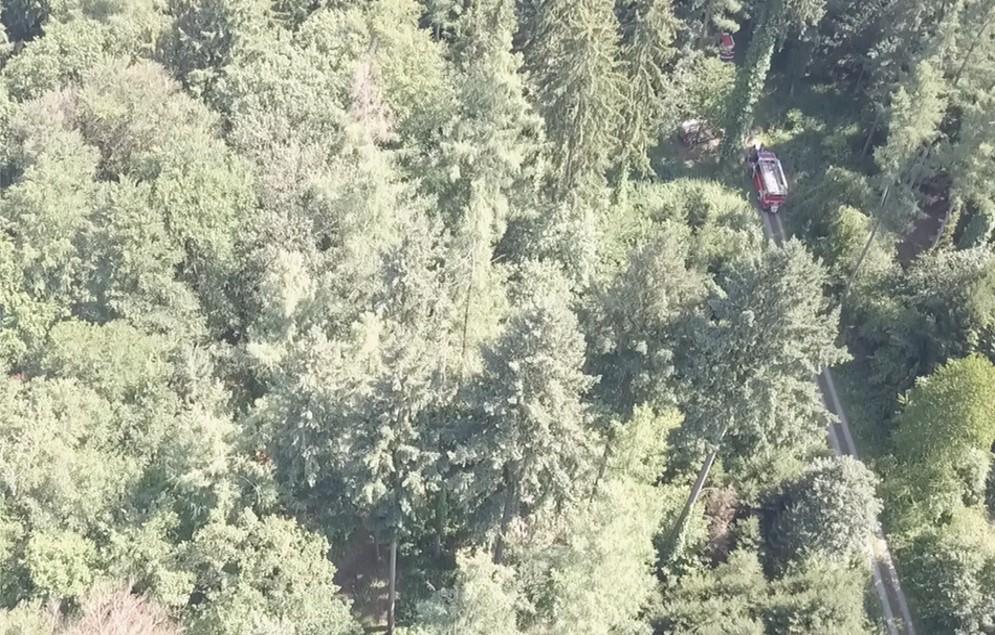 Drohnen - Einsatz beim Waldbrand (Monitoring)