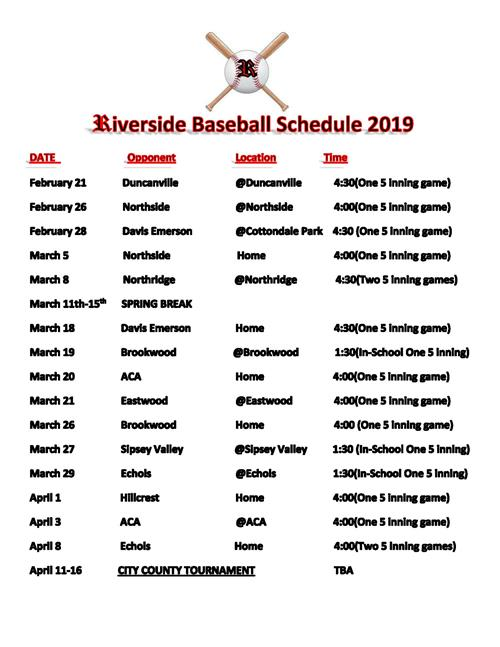 Baseball / Schedules and Results